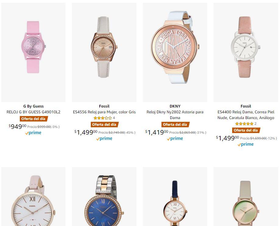 Amazon: Hasta 45% en relojes FOSSIL DKNY y GUESS para dama