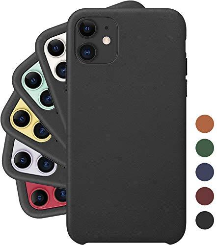 Amazon: Funda iPhone 11 Pro & iPhone Pro Max LONLI Basic | Reinvented Vegan Leather Case Black