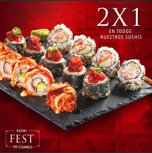 P.F. Chang's: 2x1 en Sushi Hasta el 9 de Octubre