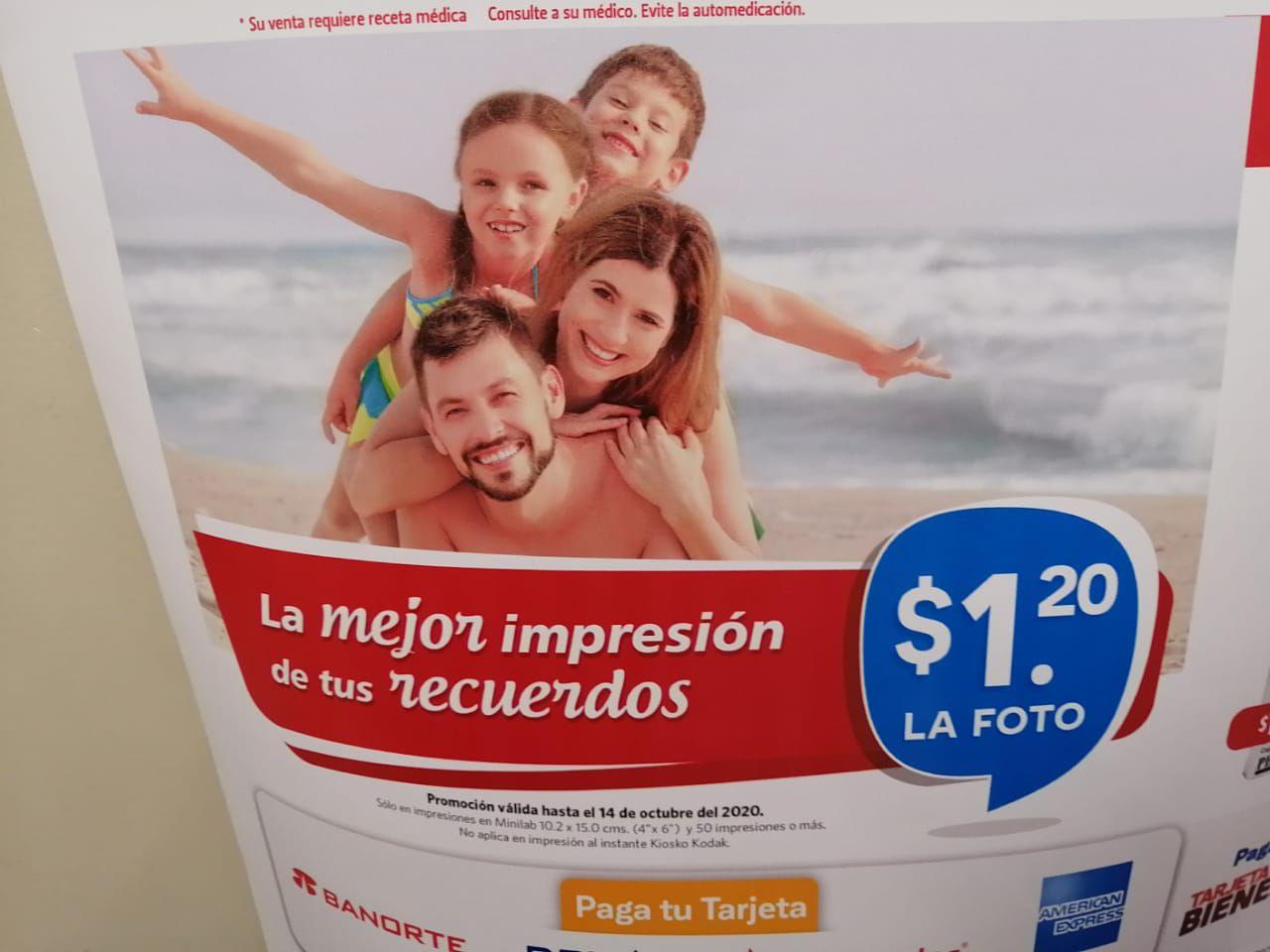 Farmacia Guadalajara: Impresión de Fotos a $1.20 (Apartir de 50 fotos)