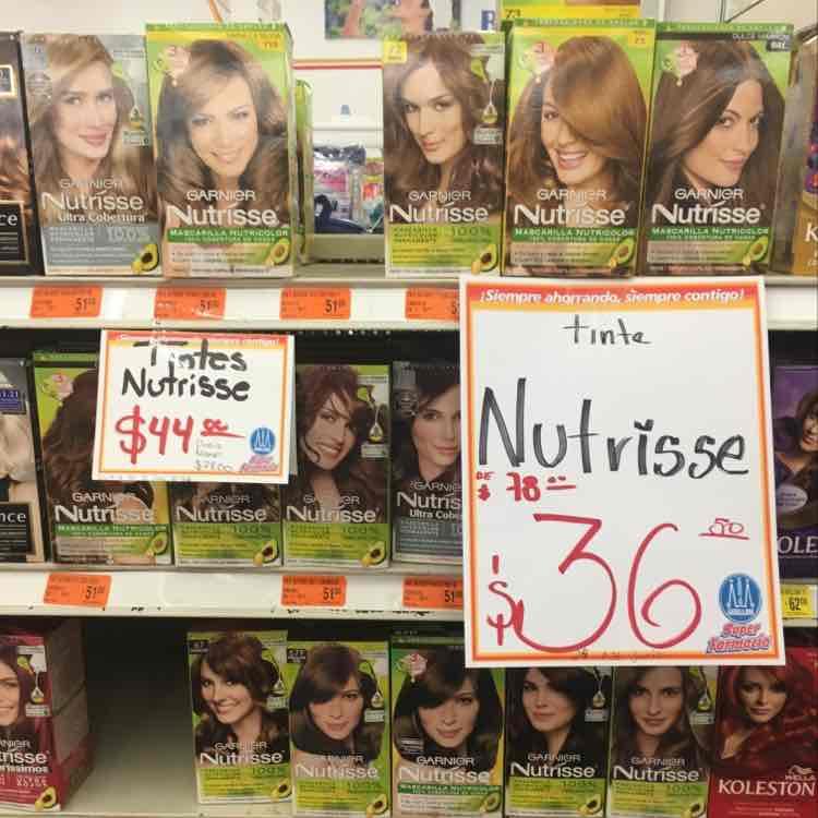Farmacias Guadalajara: tintes Nutrisse en oferta de $78 a $36.50; desodorantes Rexona, Axe y Dove al 3x2