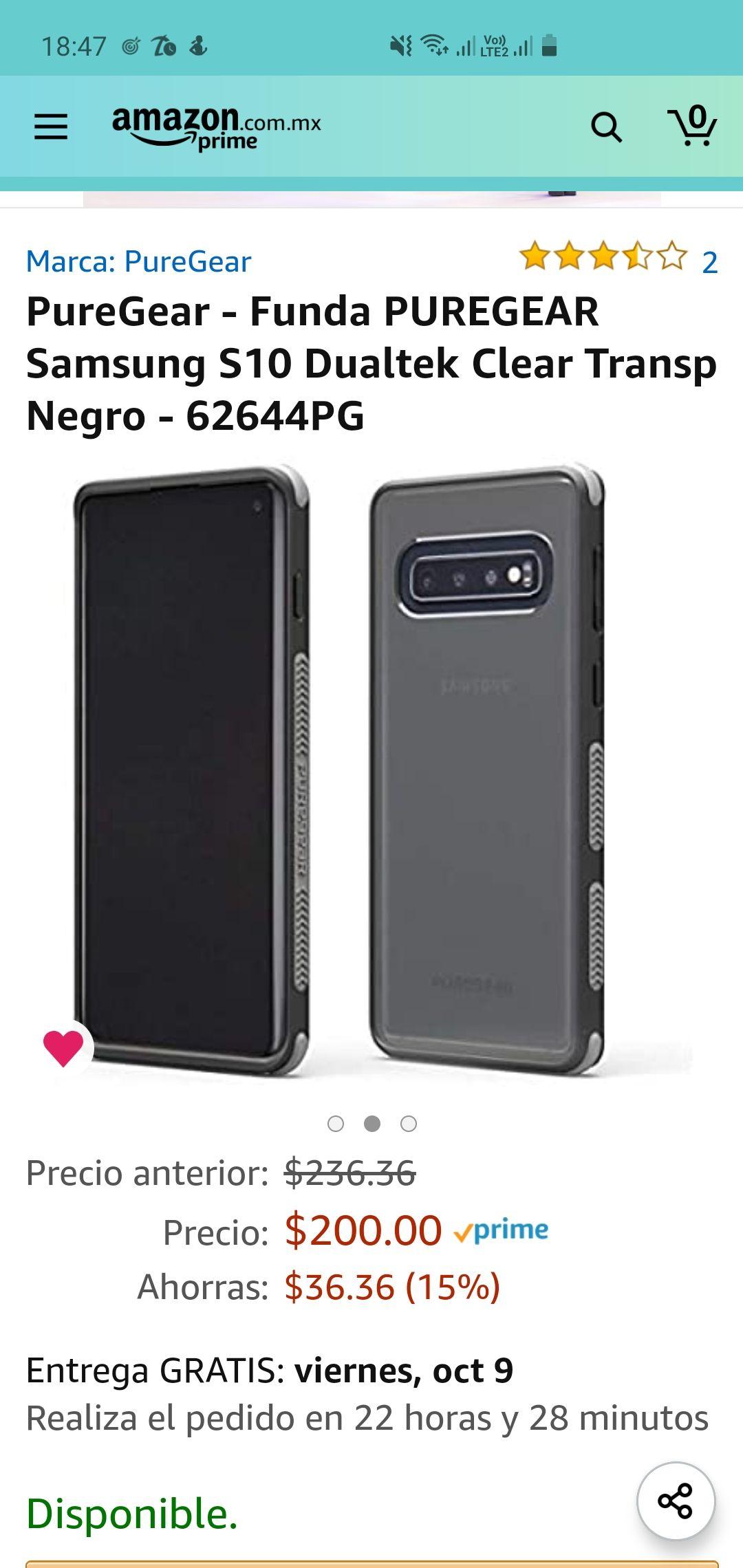 Amazon: funda Puregear Samsung S10