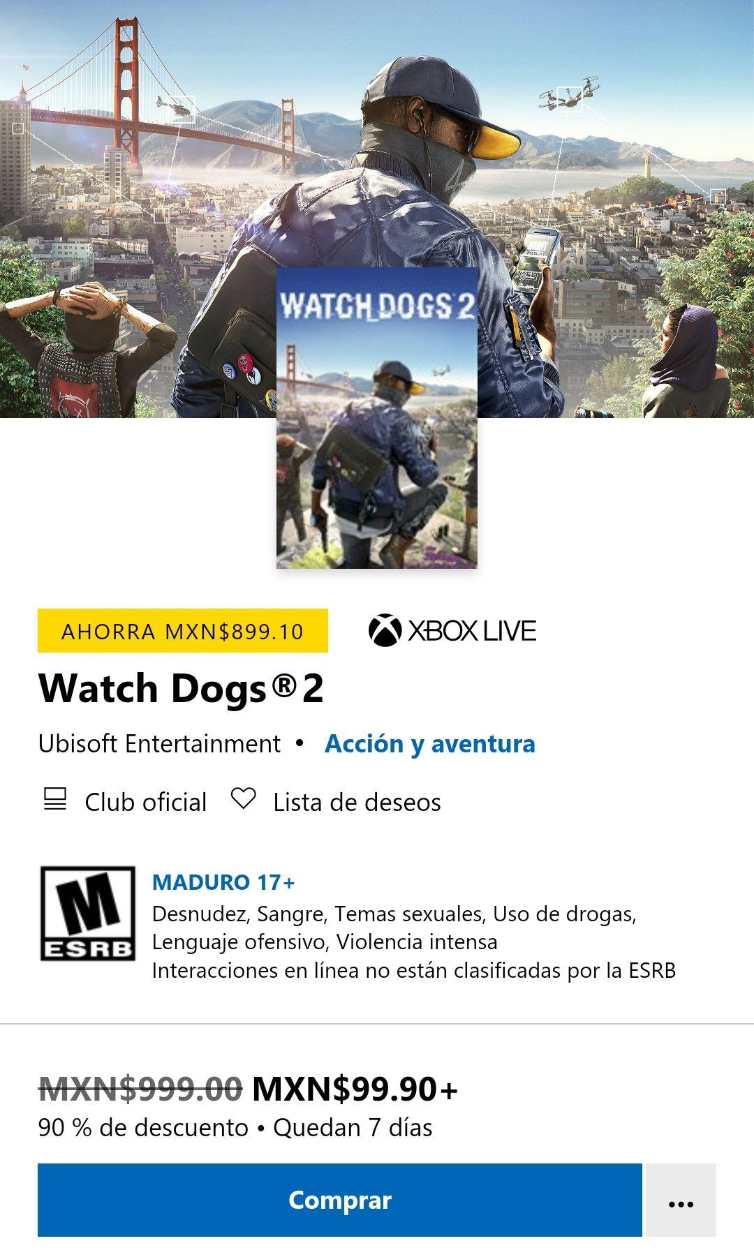 Microsoft store: Watch Dogs 2