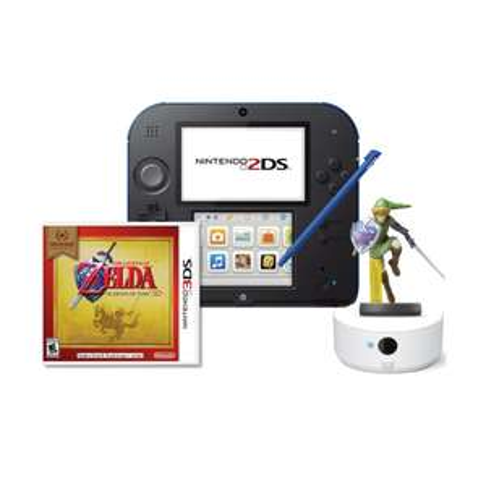 Walmart en línea: Paquete 2DS Nintendo más Amiibo Link más Lector NFC más juego