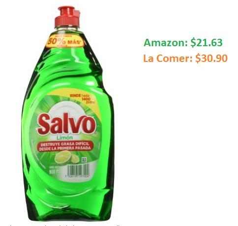 Amazon: Salvo Lavatrastes Líquido Limón 900ml