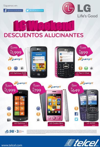 LG Weekend: LG Optimus 7 a $1,999 en Amigo Kit y más (excepto R9)