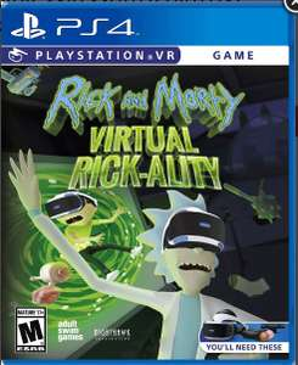 Gamers: Rick and Morty virtual rick-ality PS4