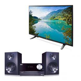 """Sears en línea: Paquete Pantalla LED LG 49"""" UHD Smart 49UH6100 + microcomponente Cm2460"""