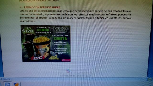 Cinemex: Combo Tortugas Ninja