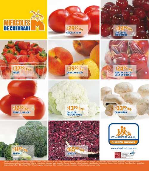Miércoles de frutas y verduras Chedraui octubre 24: naranja $1.90, aguacate $18.90 y +