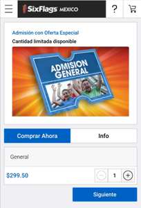 SIX FLAGS: Entrada General Oferta Especial