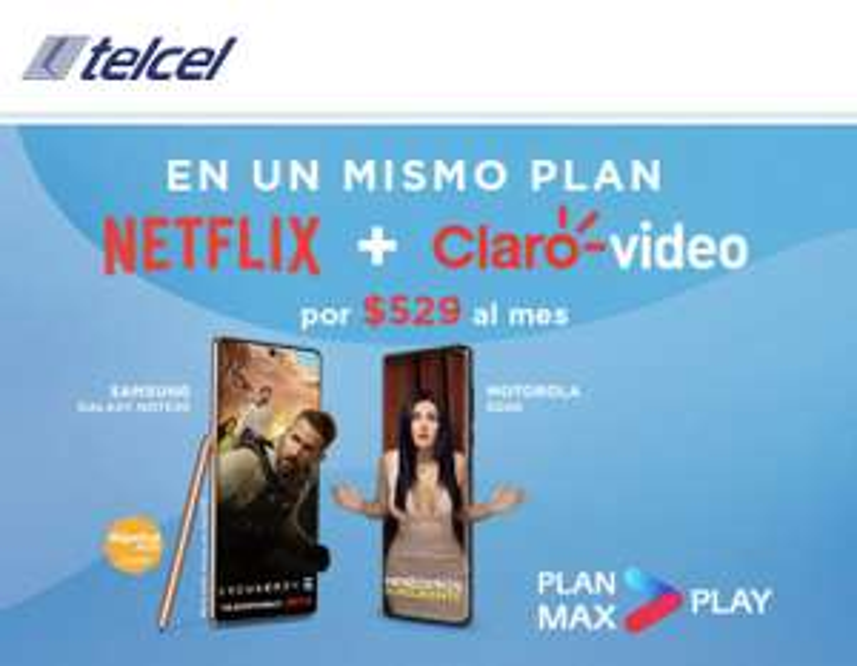 Telcel: Nuevos Planes con Netflix y Clarovideo