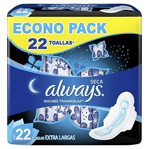 Amazon: Always Toallas Higiénicas con Protección Total, Paquete de 22 Piezas