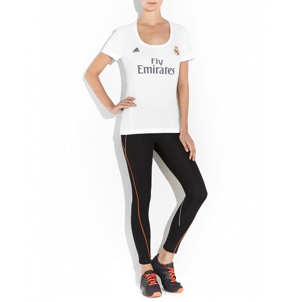 Palacio de Hierro en elínea: Jersey Adidas de Real Madrid para mujer de $1,199 a $299 con escudo y logotipo bordados (disponible sólo en talla L)