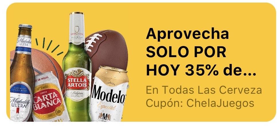 Justo: 35% en Cervezas