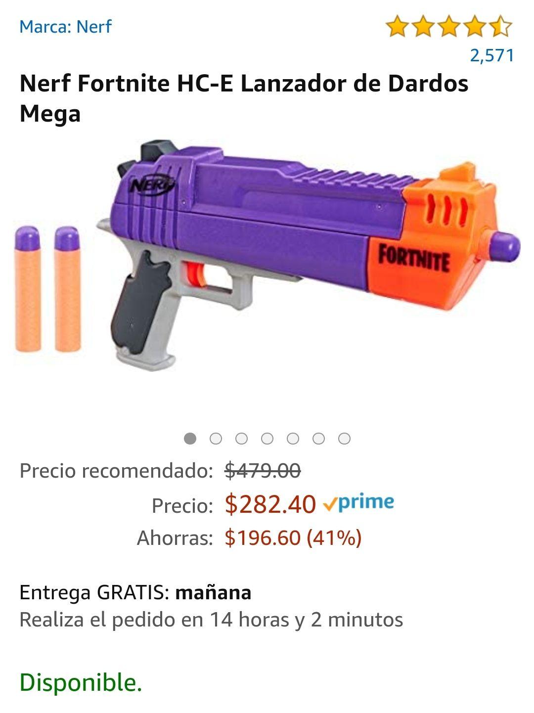 Amazon: Nerf Fortnite Lanzador de dardos Mega
