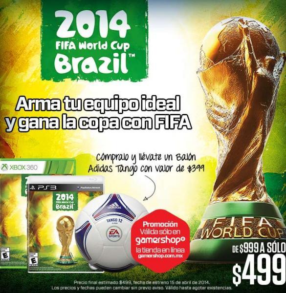 Gamers: Titanfall $699, juego del Mundial + balón Adidas $499 y más