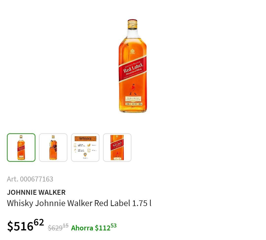 Sam's Club: Whisky Red Label 1750ml