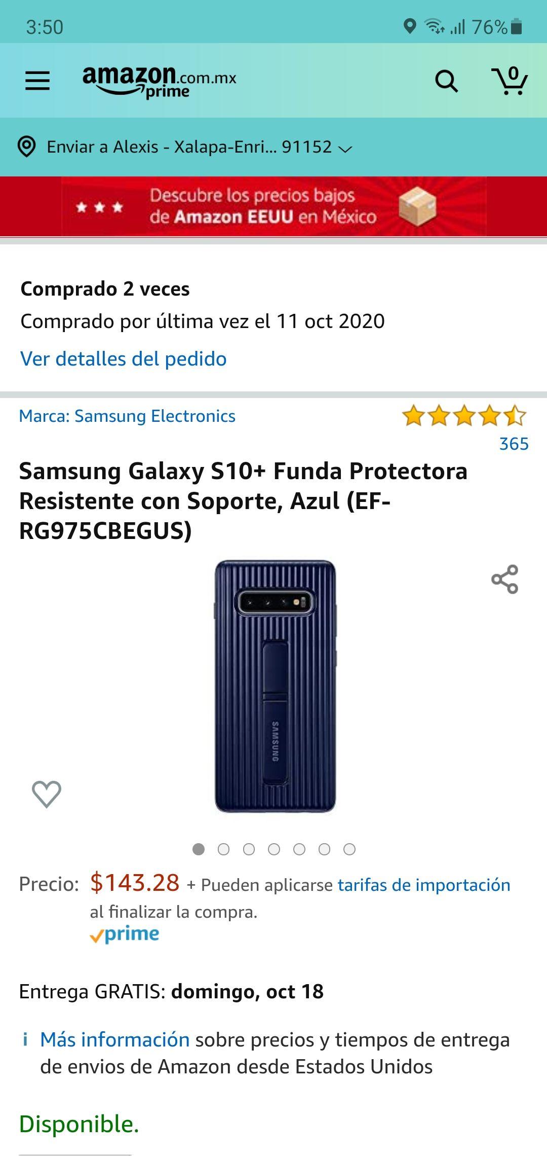 Amazon: Funda para Samsung S10 +