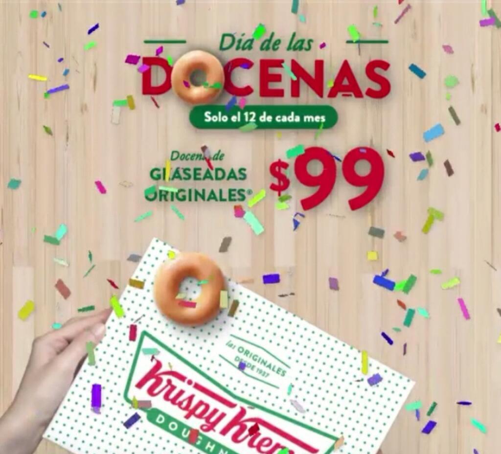Krispy Kreme Docena glaseada cada 12 de mes