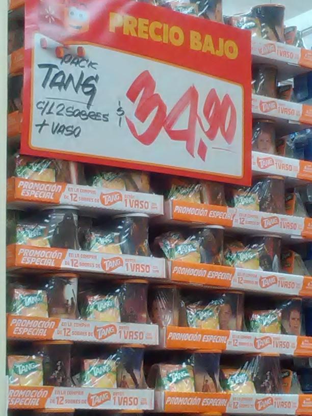 Walmart: 12 tang + 1 vaso regalo a $34.90