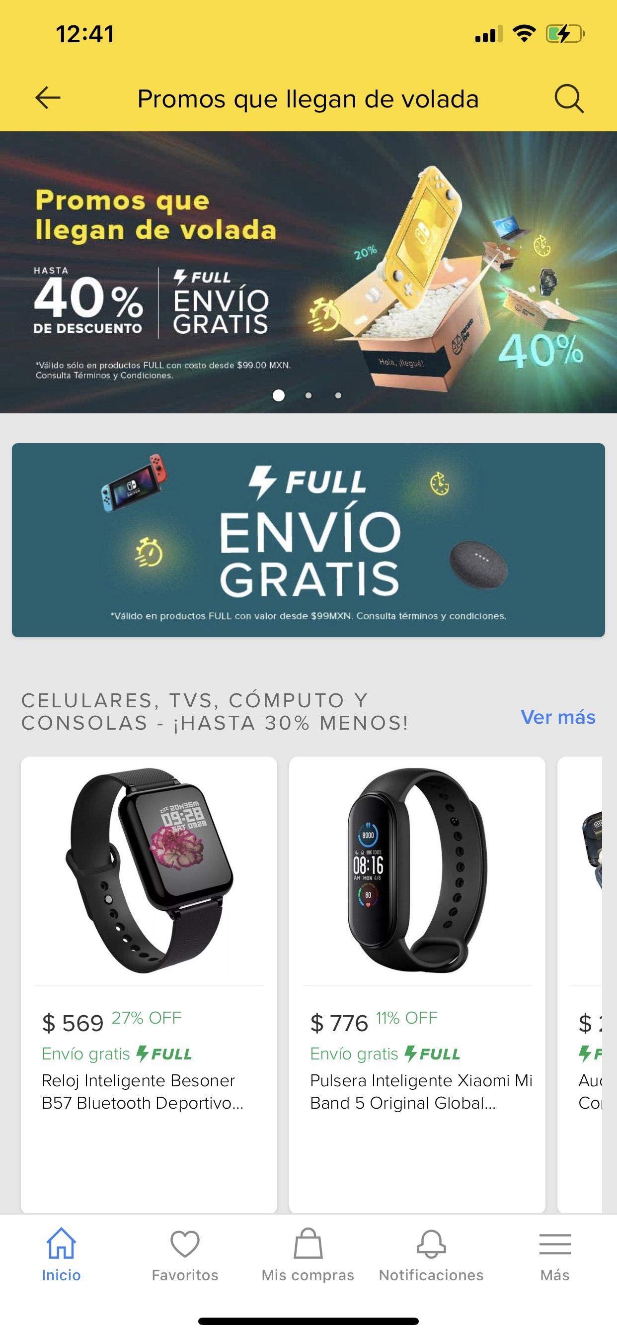 Envío gratis en productos FULL en Mercado Libre