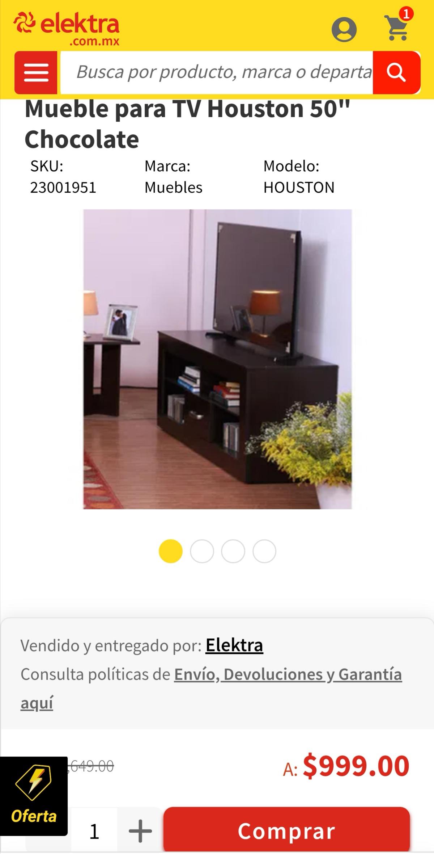 Elektra: Mueble para TV, en elektra, lo vengo cazando dese hace tiempo y por fin lo encontré