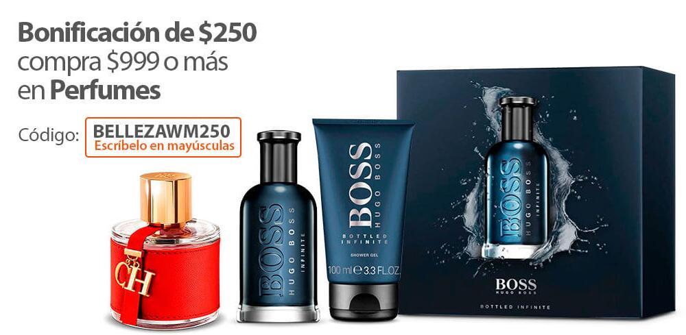 Walmart: $250 DE BONIFICACION EN PERFUMES DE MAS DE $999