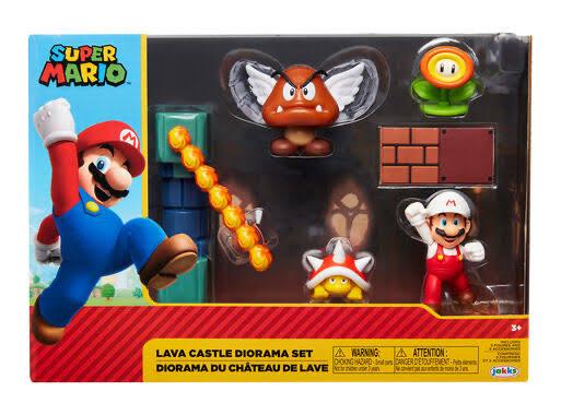 Suburbia: Castillo de Lava Diorama Nintendo Super Mario