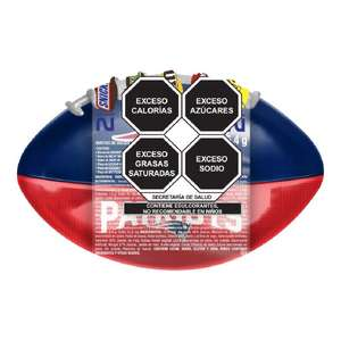 Superamas: Balón alcancía nfl Snickers