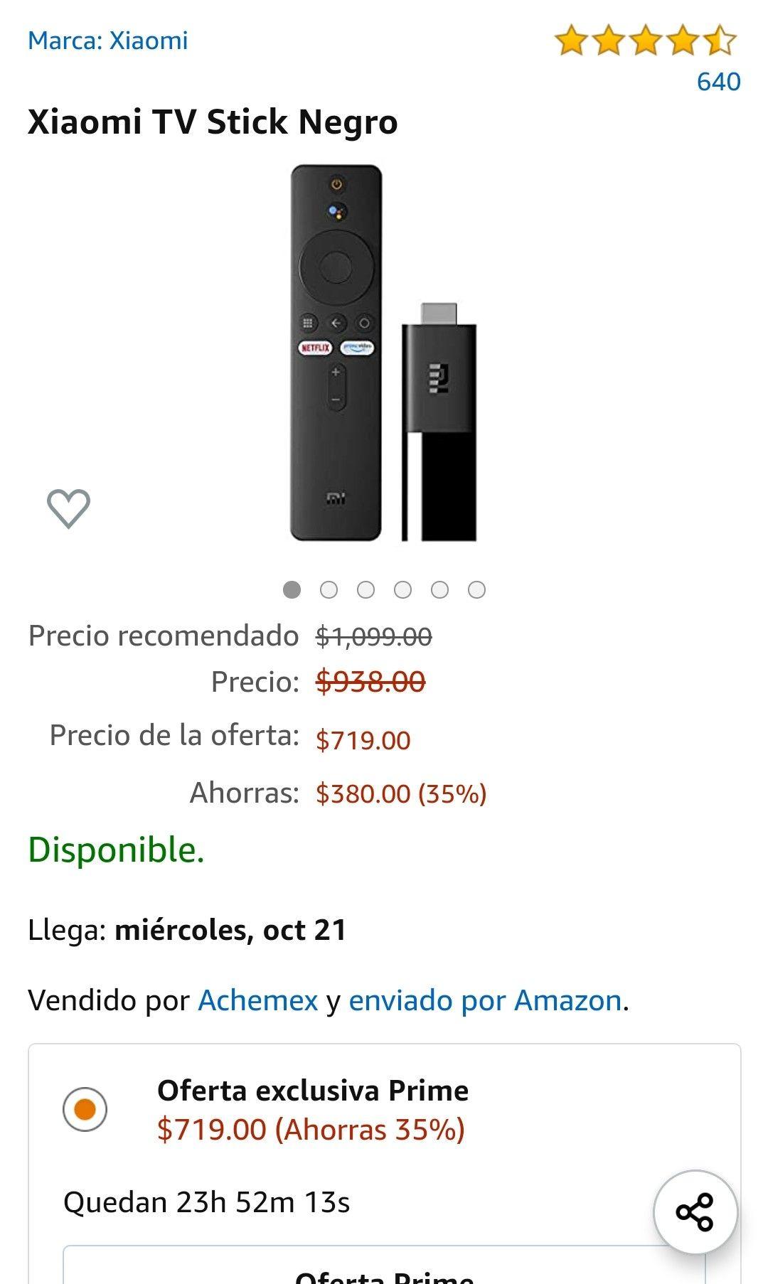 Amazon: Xiaomi tv stick