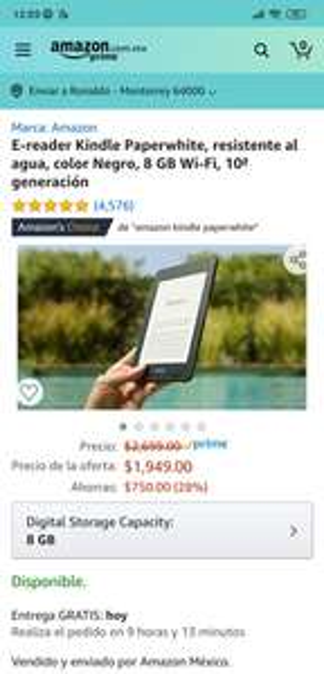 Amazon: Kindle paperwhite