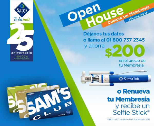 Sam's Club: Open House del 30 de junio al 4 de julio