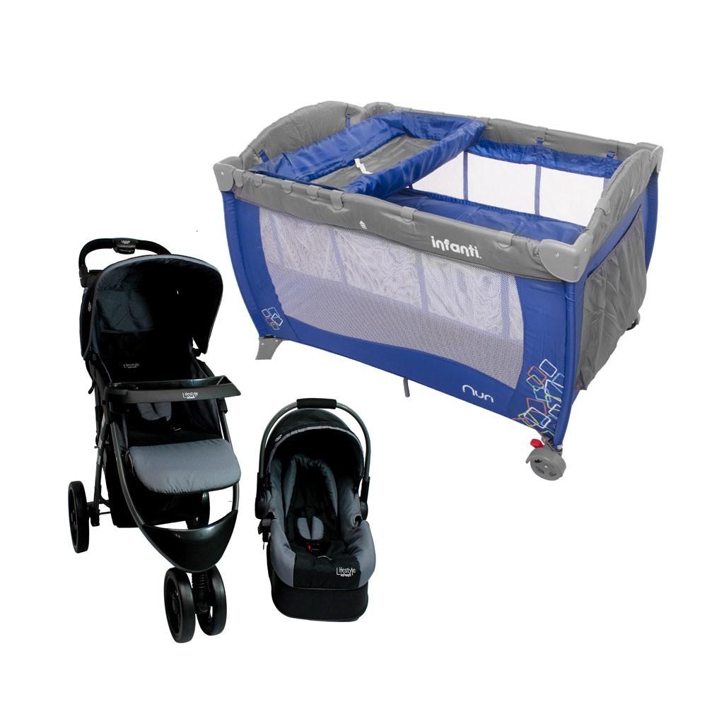 Walmart en línea: Pack Infanti Sistema de Viaje con Cuna Azul (supuestamente el ahorro por paquete es de  $4,190)