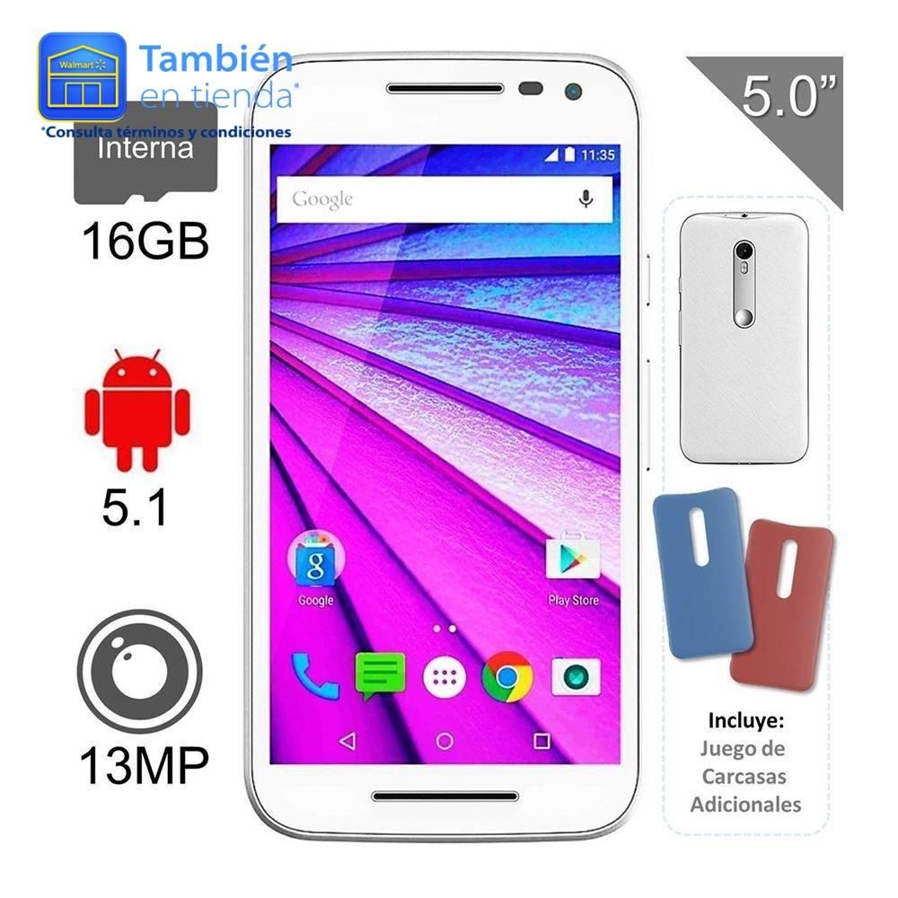 Walmart en línea: Smartphone Motorola Moto G 3ra Generación 16Gb Negro 4G LTE
