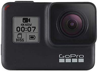 Amazon: GoPro HERO7 Black - Cámara de acción digital sumergible con pantalla táctil (Pagando con cupón PRIMEDAY20 y TDC Banorte digital)