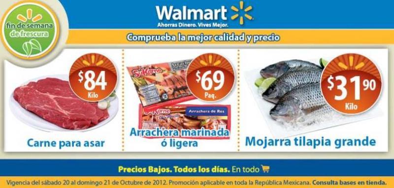 Walmart: fin de semana de frescura octubre 20
