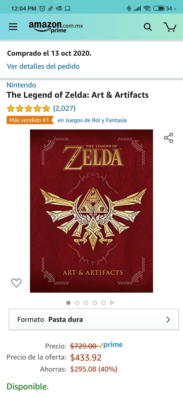 Amazon: The Legend Of Zelda: Arts and Artifacts (Inglés) NO APLICA AMOLEER