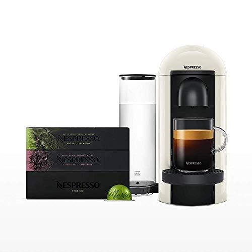 Amazon prime days. Nespresso, Pack VertuoPlus Blanca + 30 cápsulas Best Sellers (10 cápsulas por variedad)