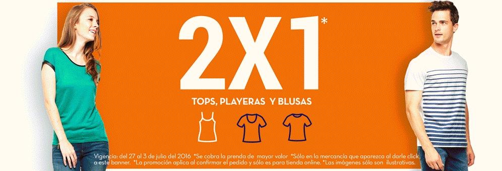 Promoda Outlet en línea: 2x1 en playeras, tops y blusas