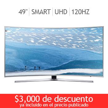 """Costco en línea: Samsung LED pantalla curva 49"""" Ultra UHD Smart TV 120Hz UN49KU6500FXZX"""