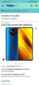 Amazon: Xiaomi Poco X3 NFC 6GB 128GB Azul