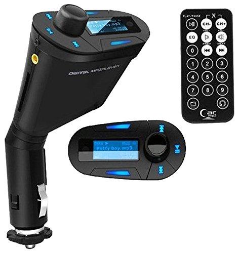 Amazon: Reproductor FM y MP3 para auto con entrada para memorias USB y SD