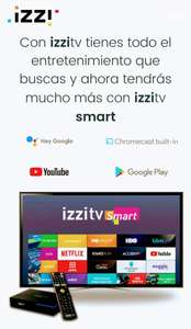 IzziTV: Decodificador izzitv Smart 4K con Android incluído en paquetes tv