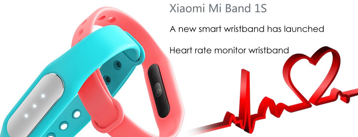 Gearbest: Pulsera Xiaomi Mi Band 1S con sensor cardiaco a $15.99usd