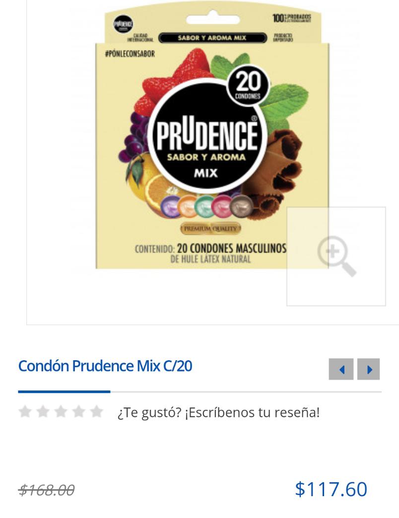 Farmacias del Ahorro: Condones prudence sabor y aroma mix c/20