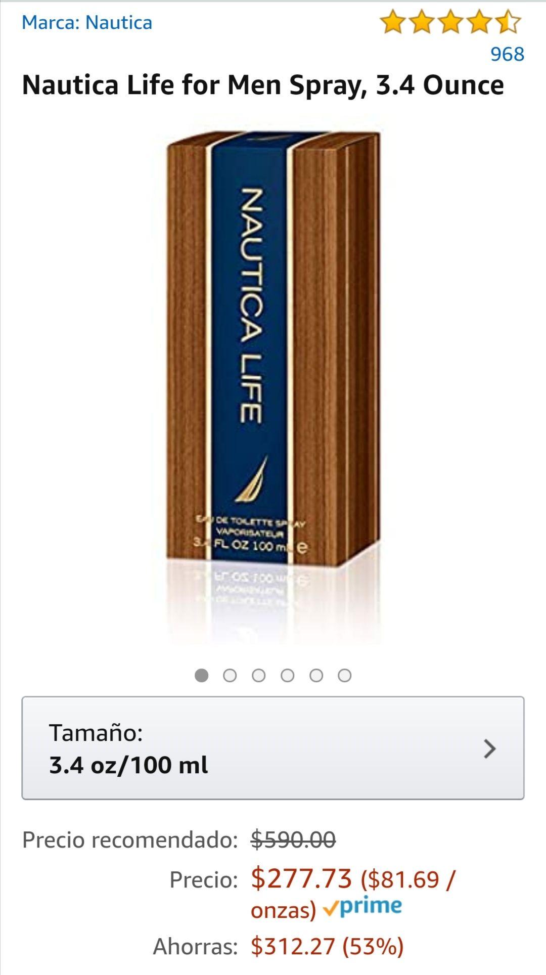 Amazon: Perfume Náutica Life