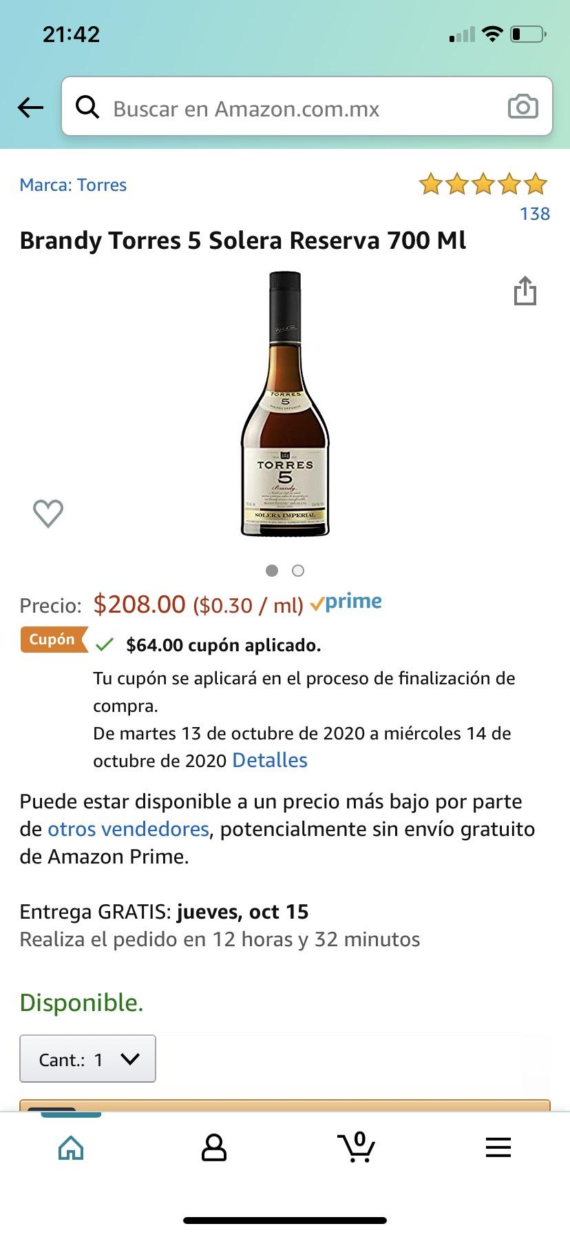 Amazon: Brandy torres en varias prestaciones con cupón