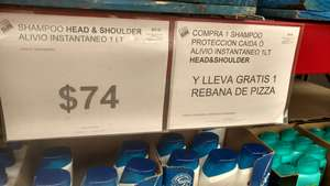 City Club: Head & Shoulders a $74 el litro más rebanada de pizza gratis