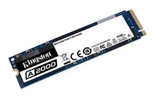 Amazon: Kingston A2000 500GB M.2 2280 NVMe SSD (Lectura/Escritura 2200/2000) | Con AMAZON RECARGABLE